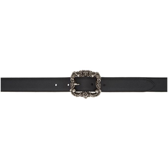Photo: Alexander McQueen Black Jewel Buckle Belt