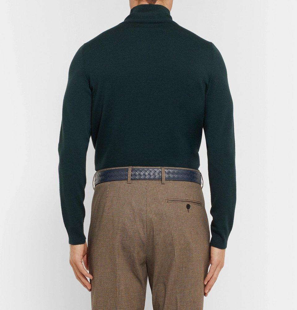 Bottega Veneta - 3cm Navy Intrecciato Leather Belt - Men - Navy