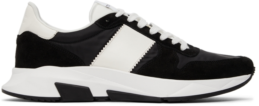 Photo: TOM FORD Black Suede & Nylon Jagga Low Sneakers