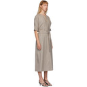 3.1 Phillip Lim Grey Wool Flannel Dolman Dress