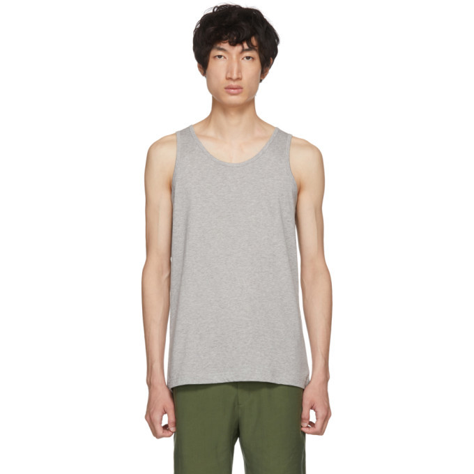 Photo: Comme des Garcons Shirt Grey Plain Fine Jersey Tank Top
