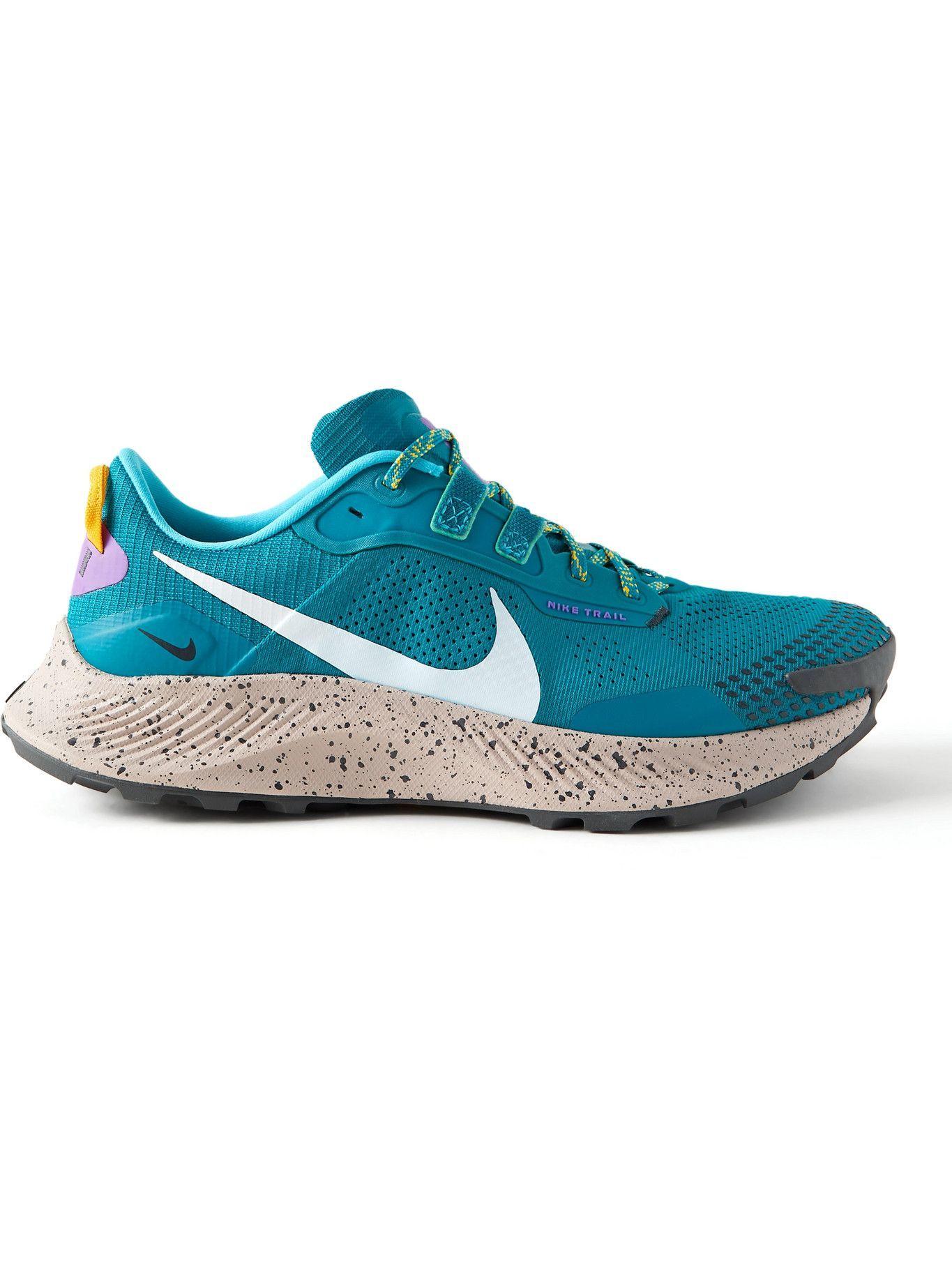 Photo: NIKE RUNNING - Pegasus 3 Mesh Trail Running Sneakers - Blue
