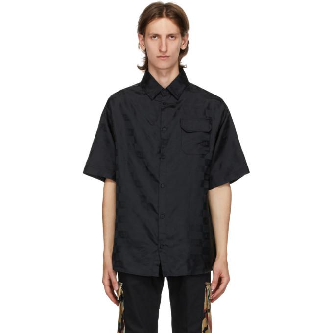 Photo: 424 Black Jacquard Logo Shirt