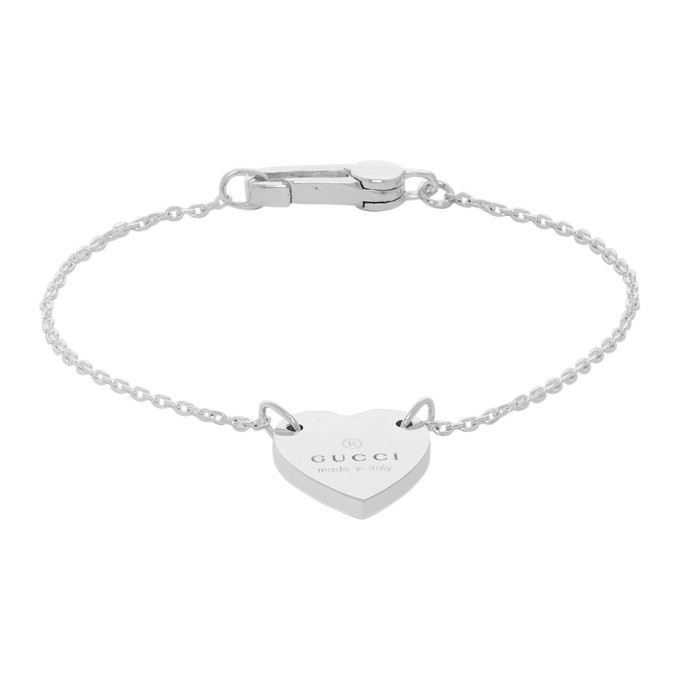Photo: Gucci Silver Trademark Heart Bracelet