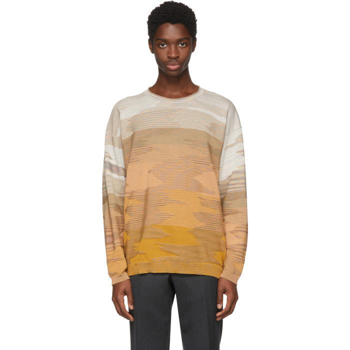 Photo: Missoni Orange 3D Effect Crewneck Sweater