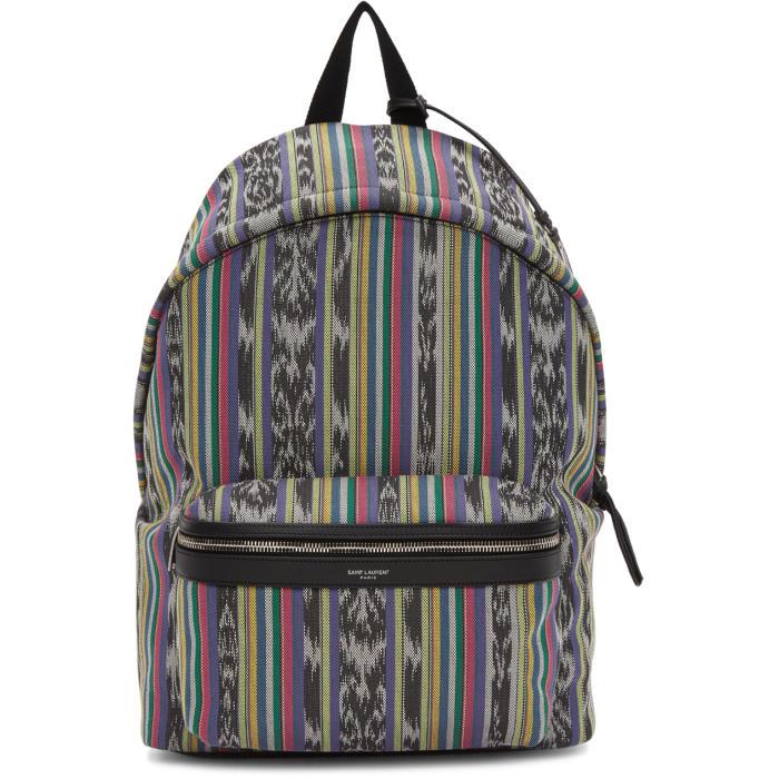 Photo: Saint Laurent Multicolor Striped City Backpack