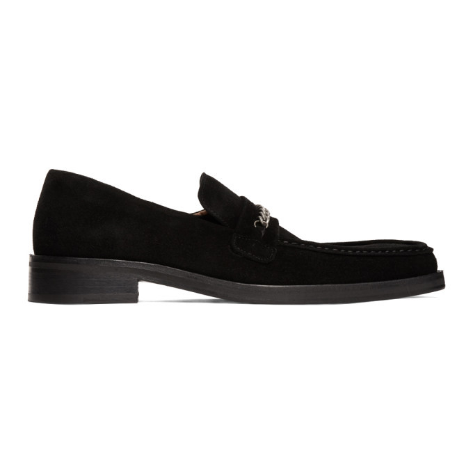 Photo: Martine Rose Black Suede Square Toe Loafers