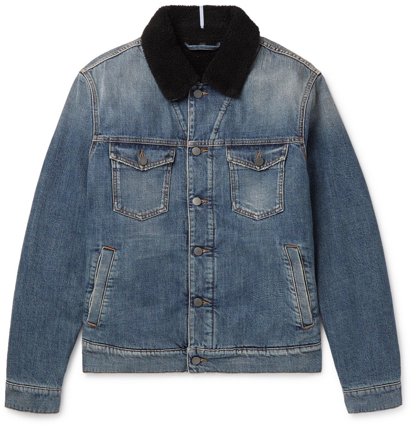 MCQ - Faux Shearling-Lined Denim Jacket - Blue