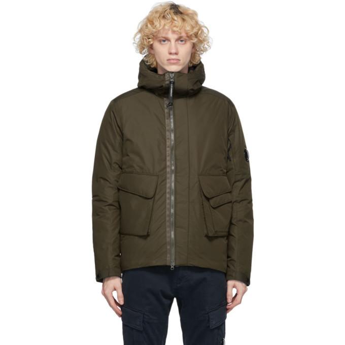 C.P. Company Green Down Hooded Jacket