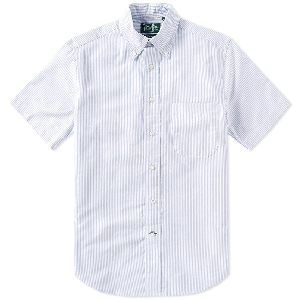 Photo: Gitman Vintage Short Sleeve Oxford Stripe Shirt