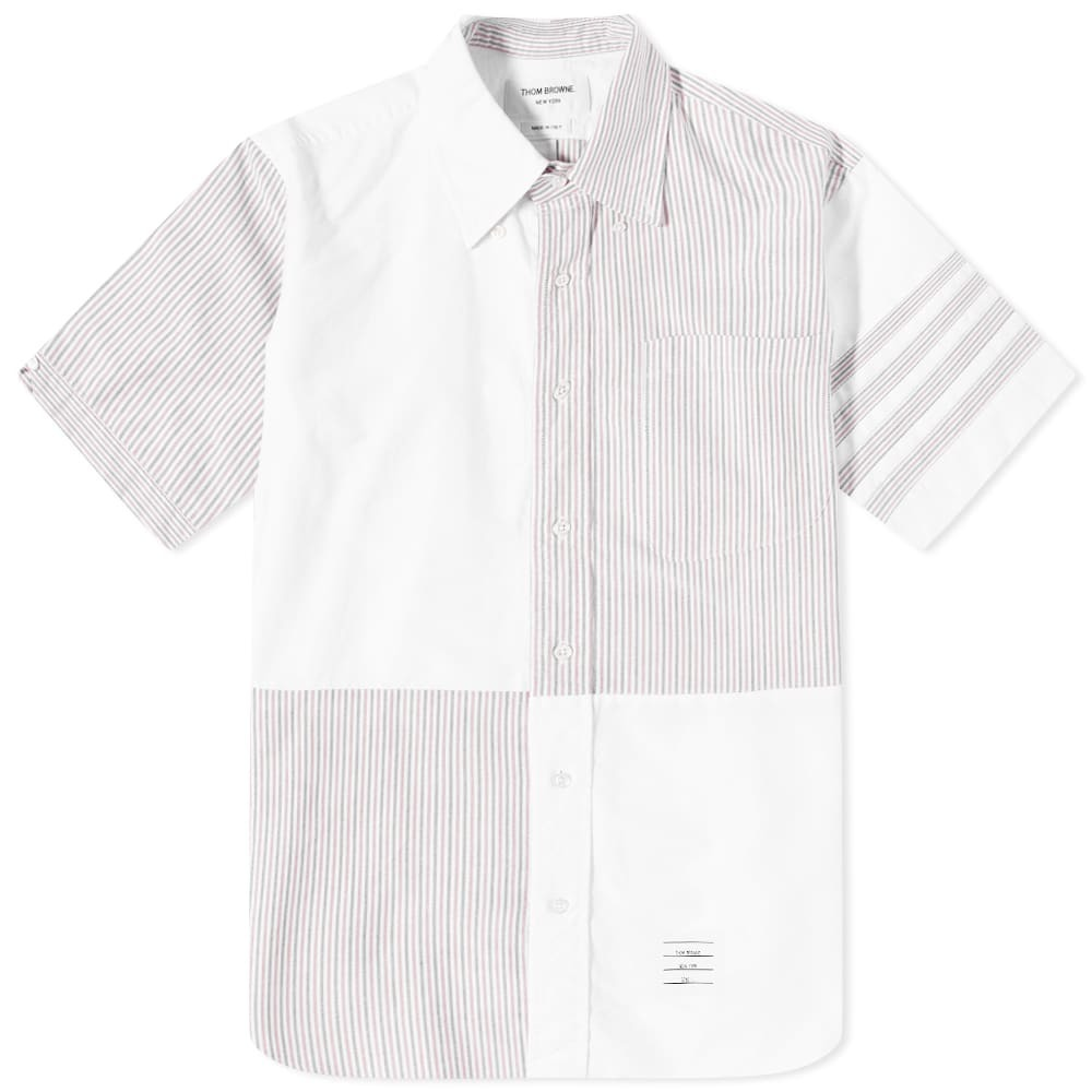 Photo: Thom Browne Quarter Split 4 Bar Short Sleeve Oxford Shirt