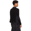 Sacai Black and Navy Denim Wool Jacket