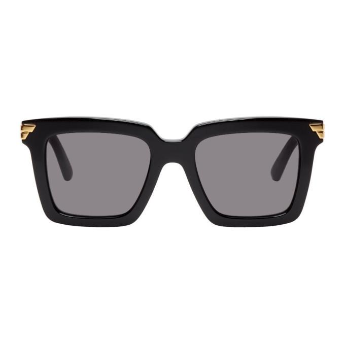Photo: Bottega Veneta Black Square Sunglasses