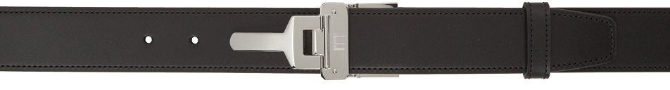 Photo: Dunhill Reversible Black Leather Lock Buckle Belt