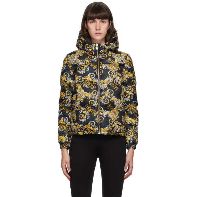 Photo: Versace Jeans Couture Reversible Black Barocco Logo Jacket