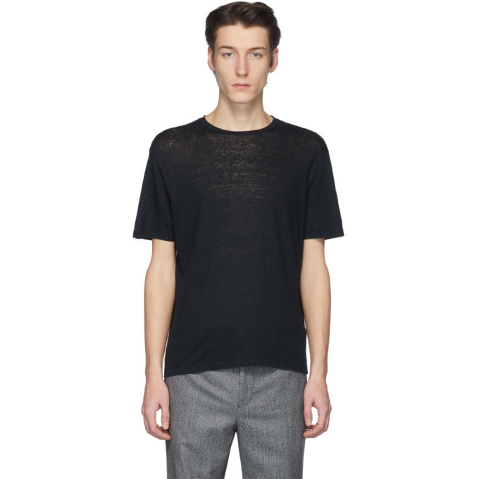 Photo: Etro Black Linen T-Shirt