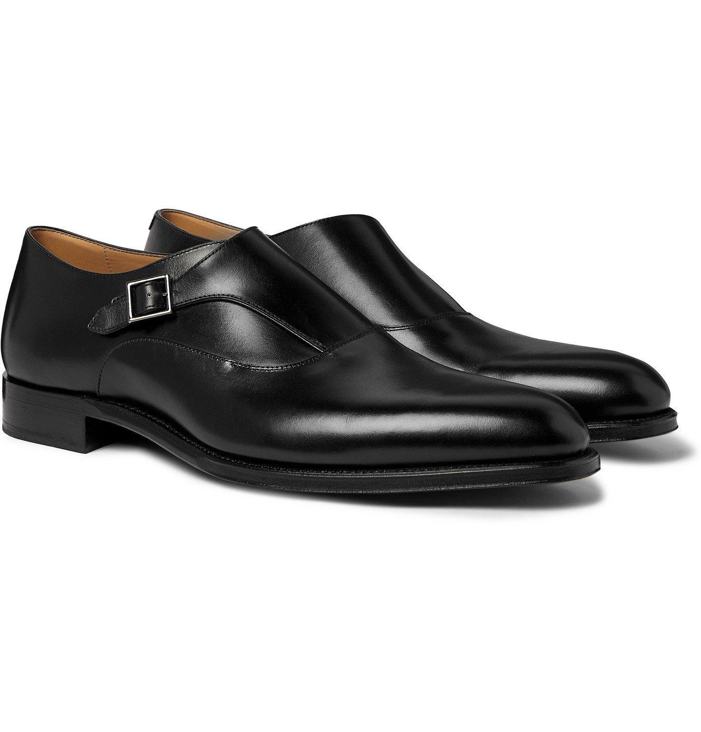 Dunhill - Kensington Leather Monk-Strap Shoes - Black