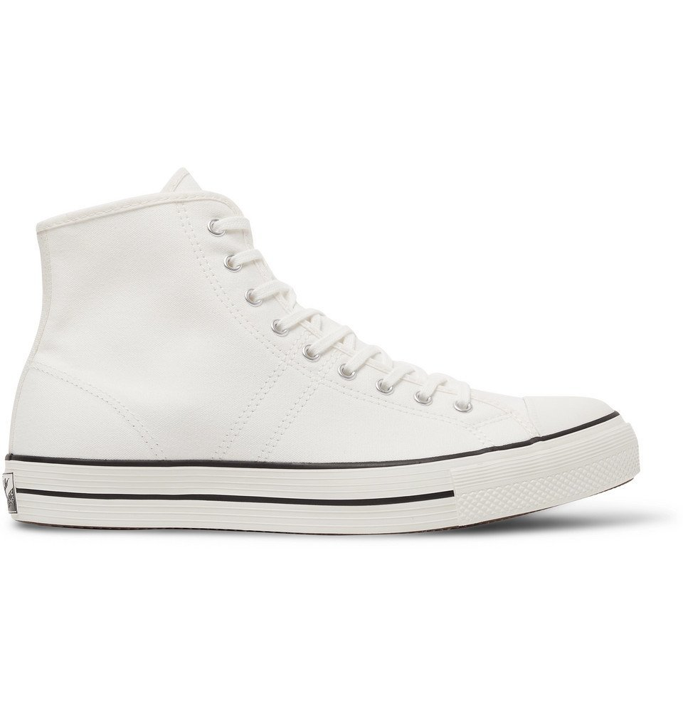 Photo: Converse - Lucky Star Canvas High-Top Sneakers - White
