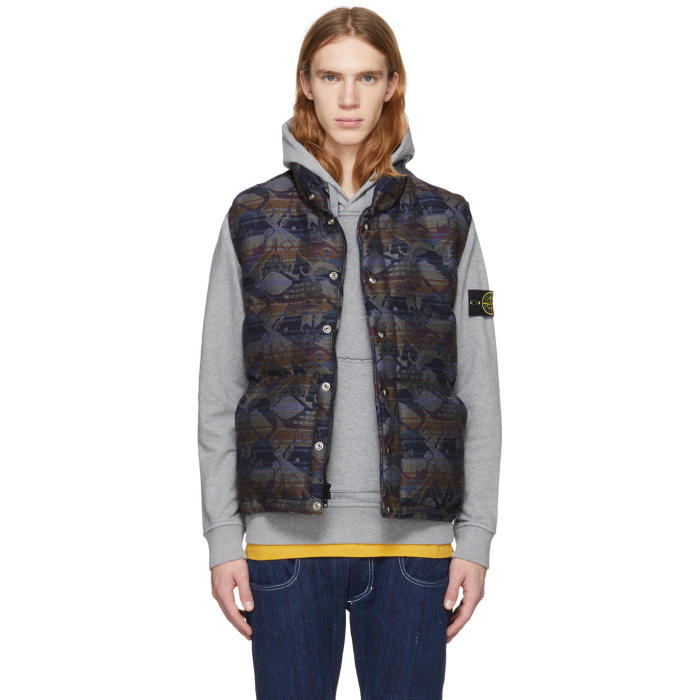 Photo: Bianca Chandon Multicolor Crescent Down Works Edition Down English Wool Vest