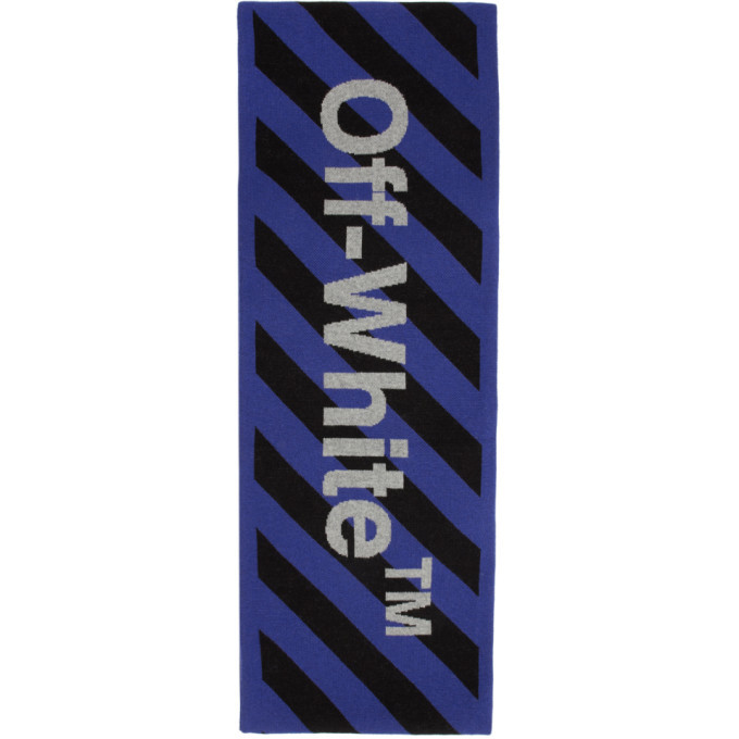 Photo: Off-White Blue and Black Arrows Scarf