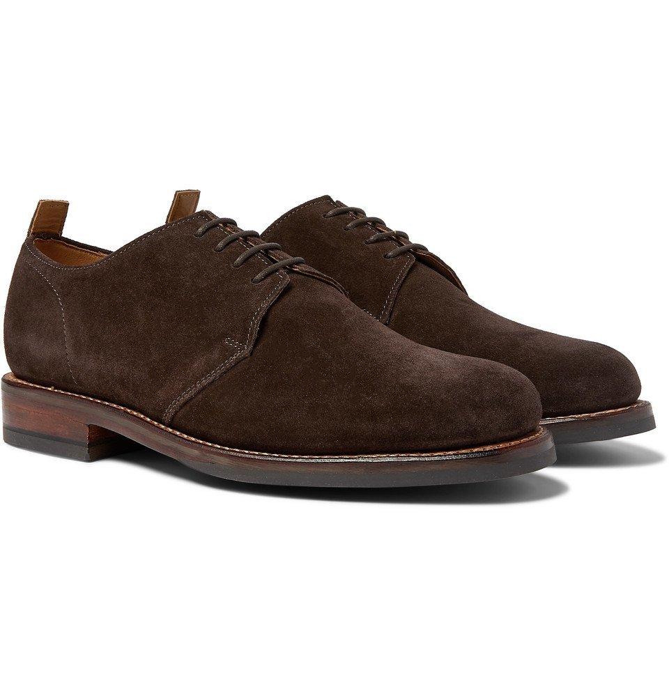 Photo: Grenson - Wade Suede Derby Shoes - Dark brown