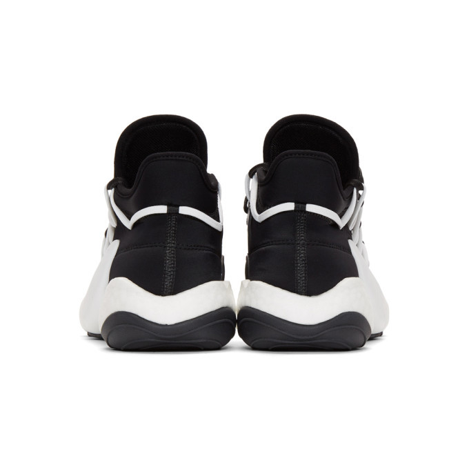 Y-3 White and Black James Harden Edition BYB BBALL Sneakers