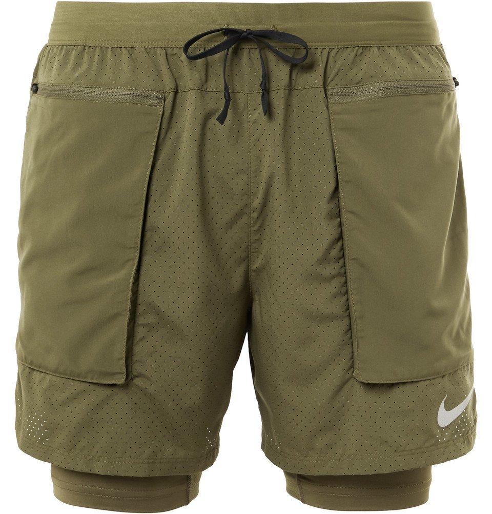 Nike Running - Flex Stride 2-In-1 Dri-FIT Mesh Shorts - Men - Green