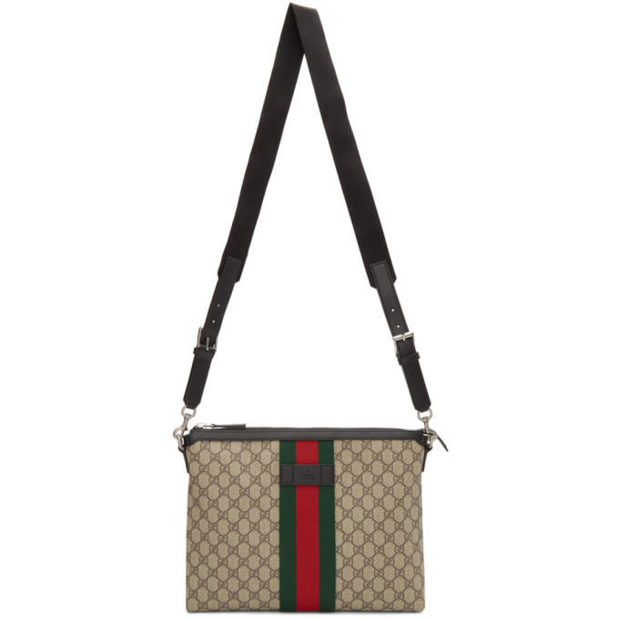 Photo: Gucci Beige Medium GG Supreme Messenger Bag