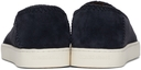 Giorgio Armani Navy Suede Slip-On Sneakers