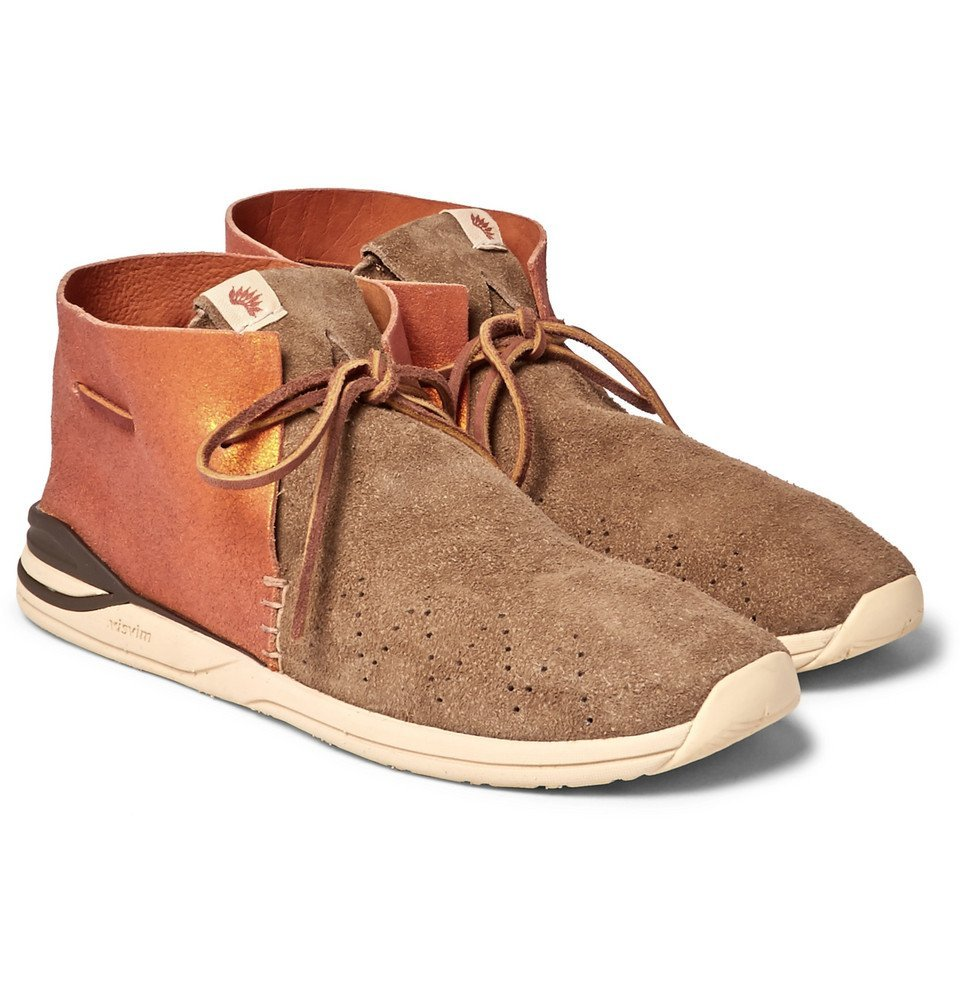 Photo: visvim - Huron Leather And Suede Sneakers - Camel
