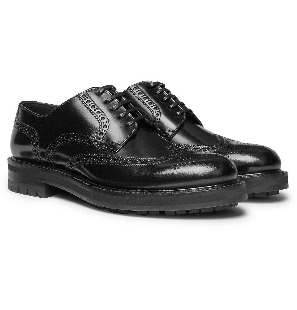 Photo: Dolce & Gabbana - Polished-Leather Brogues - Black