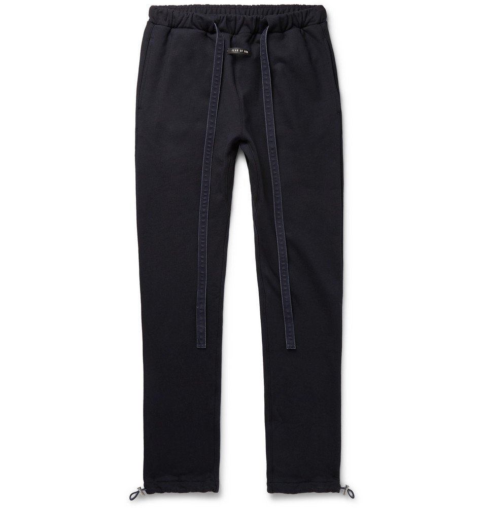 Photo: Fear of God - Slim-Fit Loopback Cotton-Jersey Sweatpants - Navy