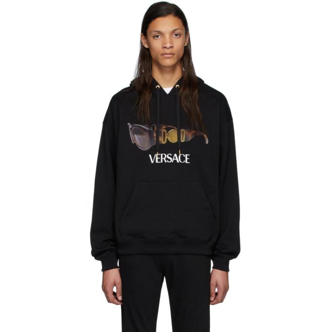 Versace Black Biggie Sunglasses Hoodie
