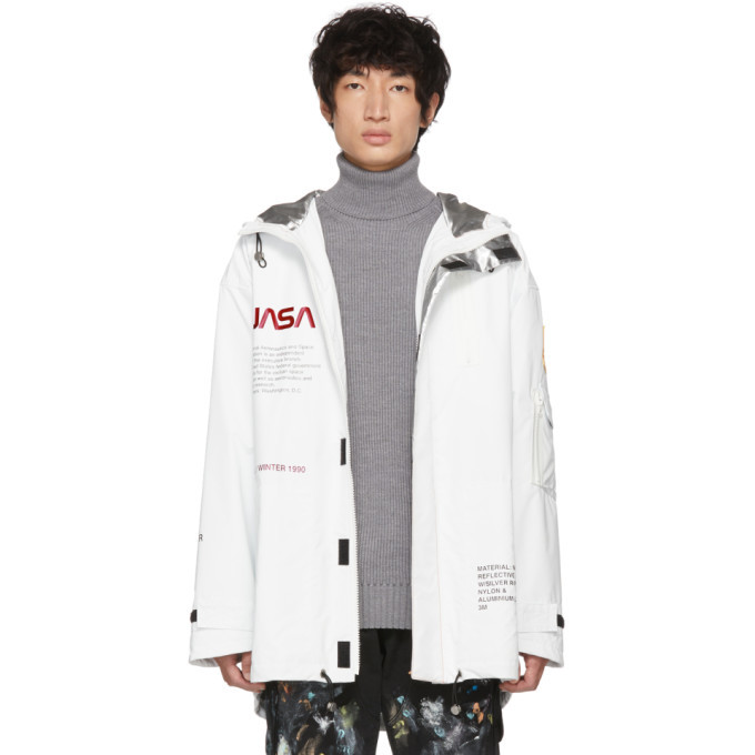 Photo: Heron Preston White High Tech Parka