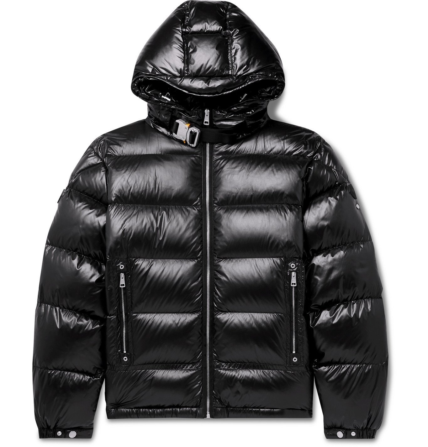 Photo: Moncler Genius - 6 Moncler 1017 ALYX 9SM Quilted Nylon Hooded Down Jacket - Black