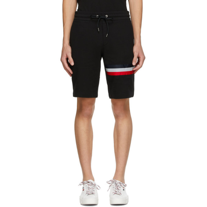 Photo: Moncler Black Cotton Striped Shorts
