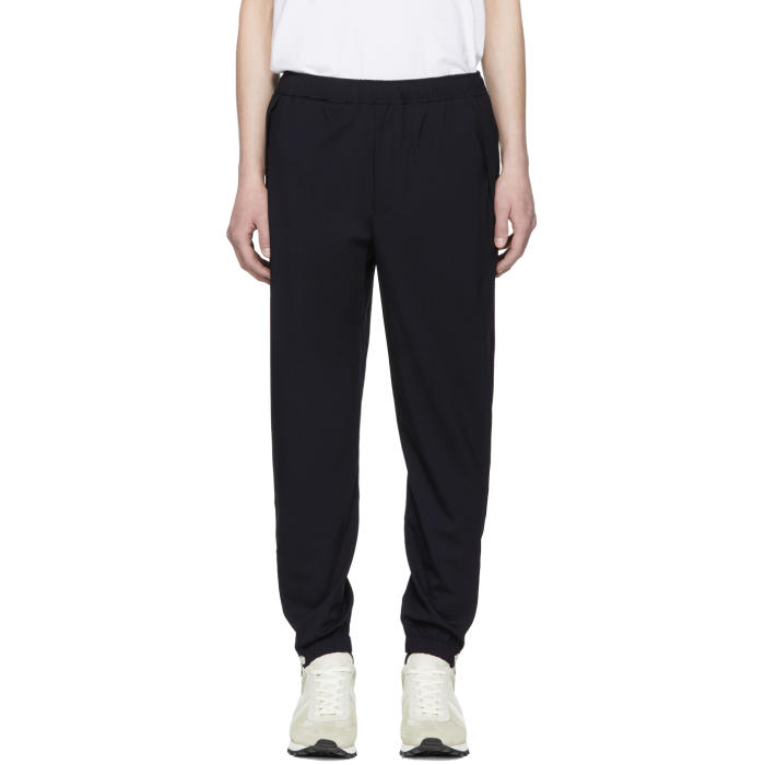 Photo: Tim Coppens Navy Wool Staple Jogger Trousers