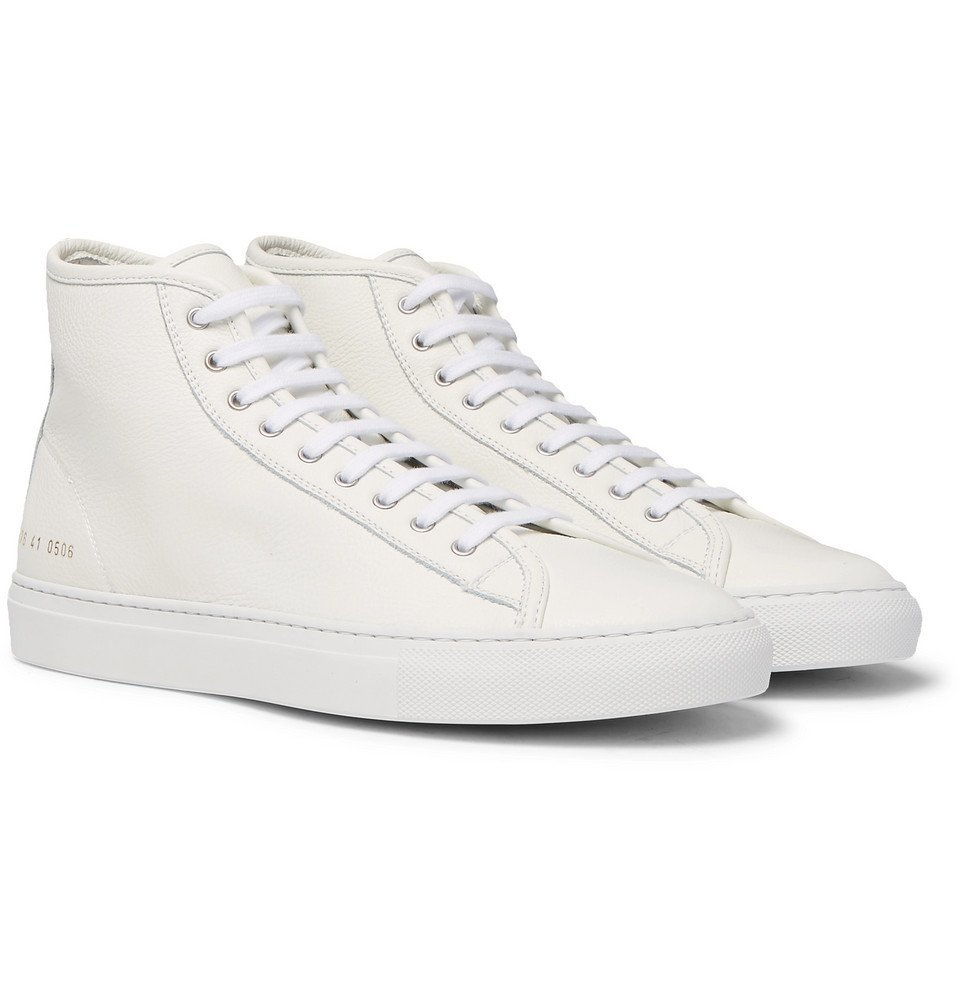 Common Projects - Tournament Full-Grain Leather High-Top Sneakers - Men - White
