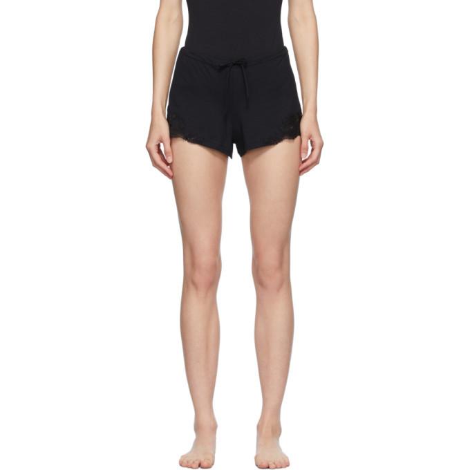 Photo: La Perla Black Cotton Sleep Shorts