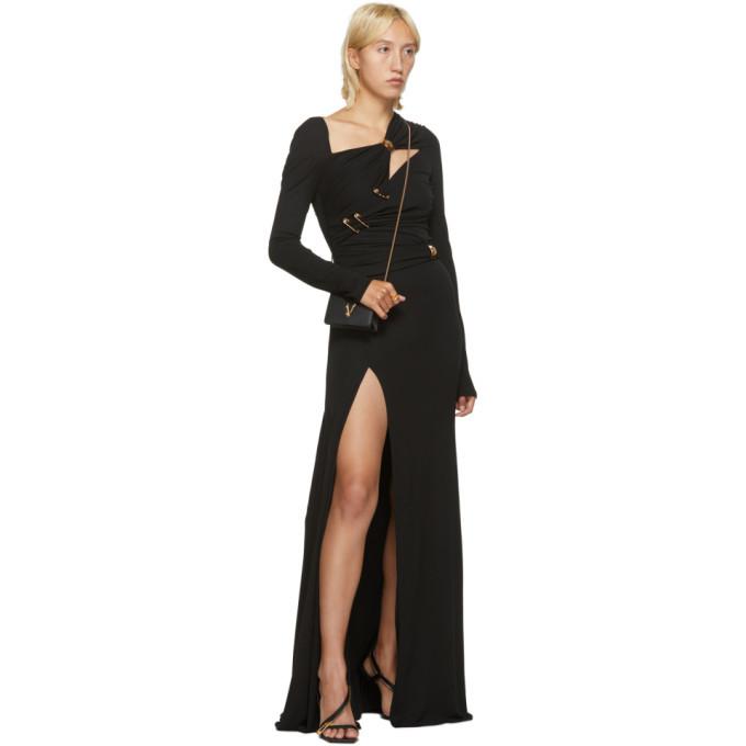 Versace Black Crepe Pin Dress