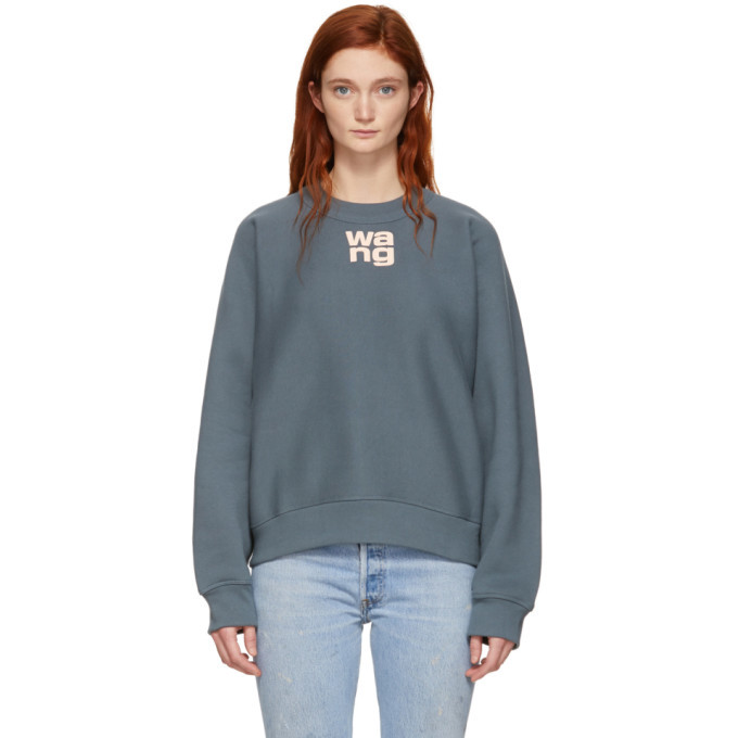 Photo: alexanderwang.t Grey Wash and Go Fleece Sweatshirt