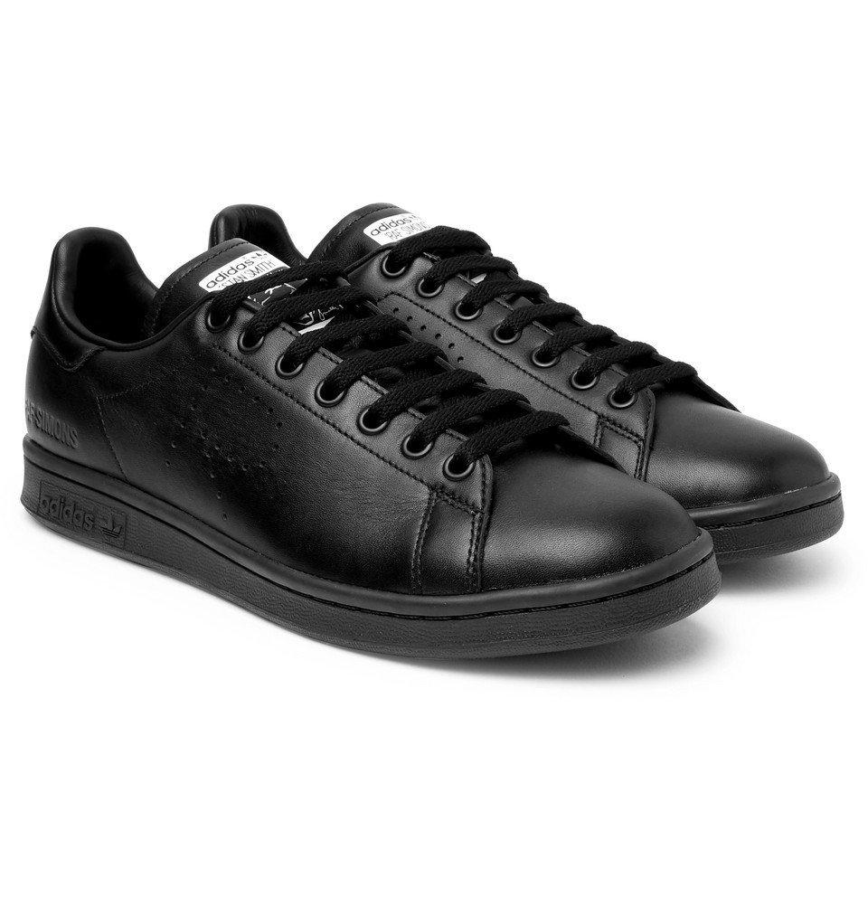 Raf Simons - adidas Originals Stan Smith Leather Sneakers - Black