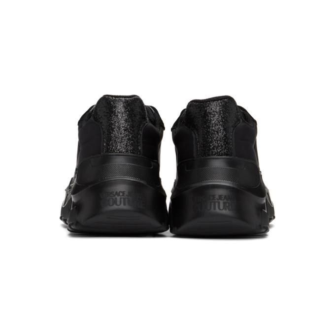 Versace Jeans Couture Black Institutional Logo Sneakers