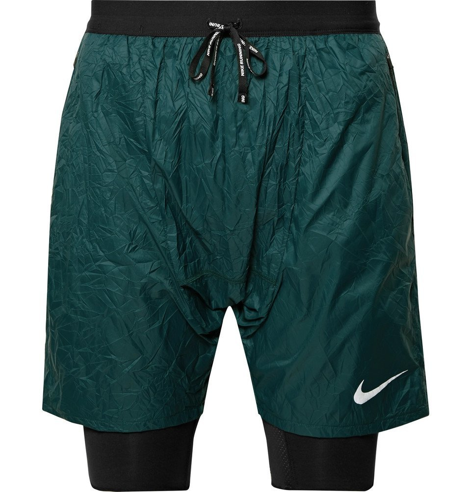 Nike Running - Flex Run Division Stride Elevate Dri-FIT Shorts - Men - Dark green