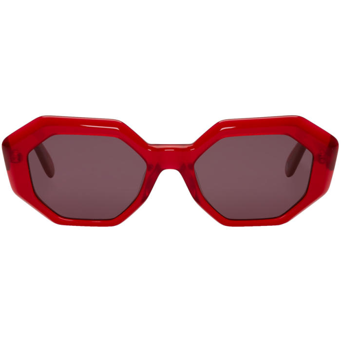 Photo: Garrett Leight Red Jacqueline Sunglasses