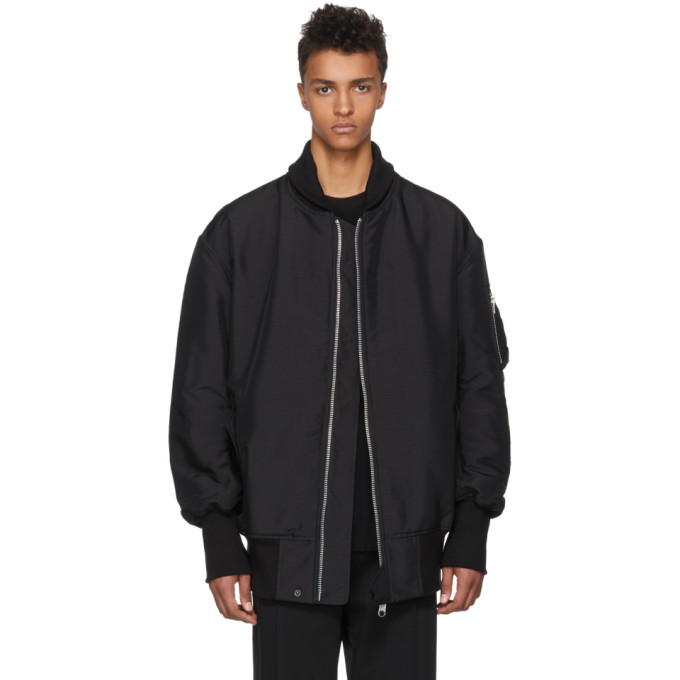 Photo: Y-3 Black James Harden Oversized Bomber Jacket