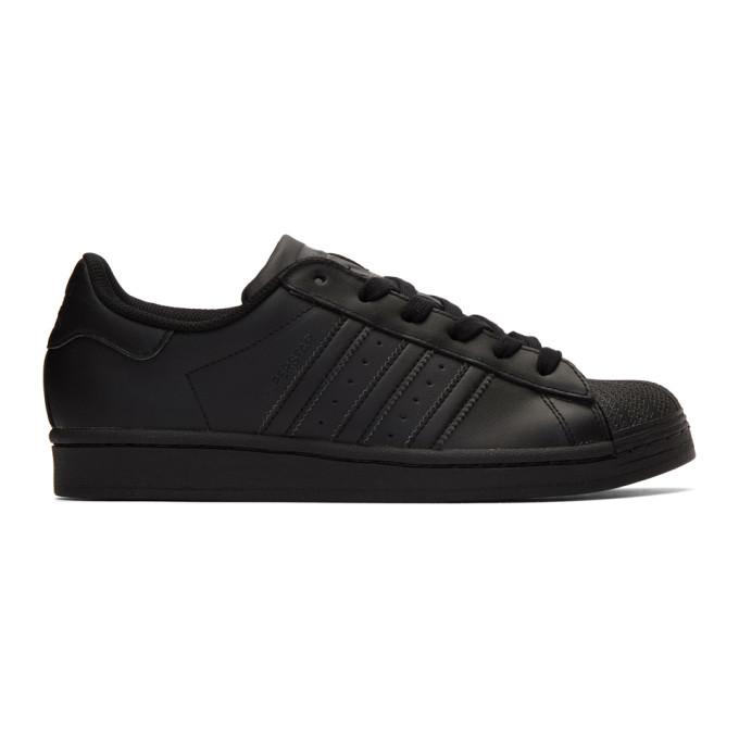 adidas Originals Black Superstar Sneakers