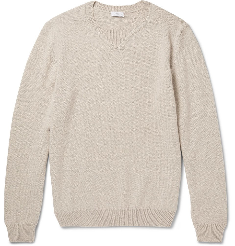 Sunspel - Merino Wool and Cotton-Blend Sweater - Sand