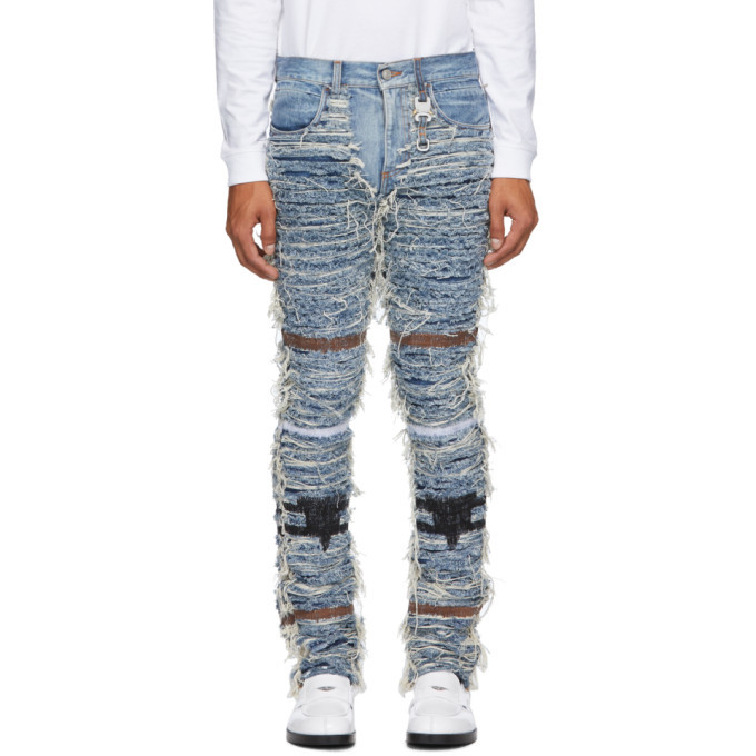Photo: 1017 ALYX 9SM Blue Blackmeans Edition Six-Pocket Jeans