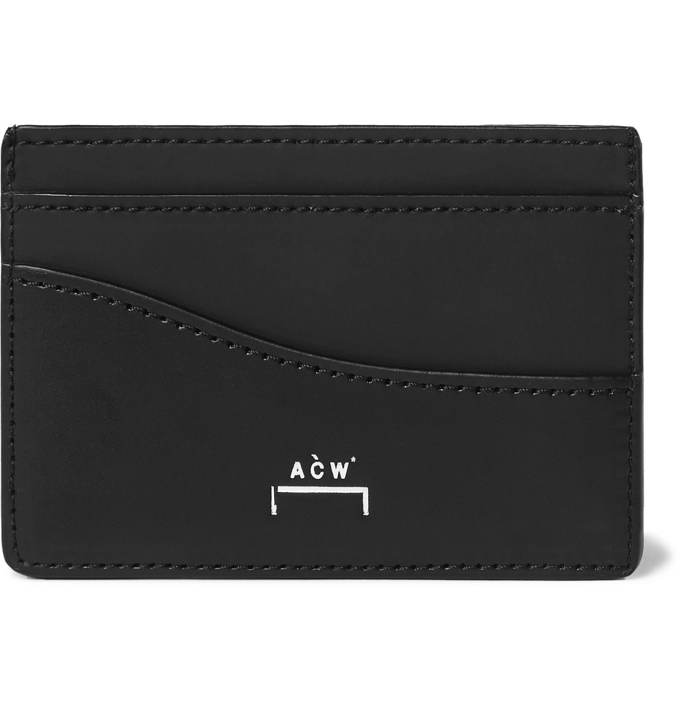 Photo: A-COLD-WALL* - Logo-Print Leather Cardholder - Black